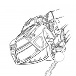 Action Man car coloring page