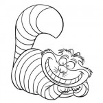 Alice in wonderland cat coloring page