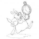 Alice in wonderland color page