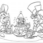 Alice in wonderland friends coloring pages