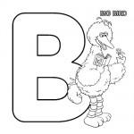 Alphabet B coloring page