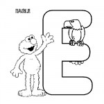 Alphabet E coloring page
