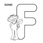 Alphabet F coloring page