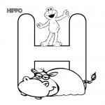 Alphabet H coloring page