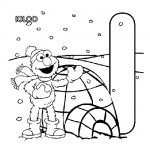 Alphabet I coloring page