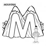 Alphabet M coloring page