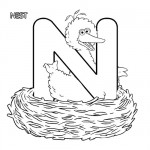 Alphabet N coloring page