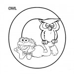 Alphabet O coloring page