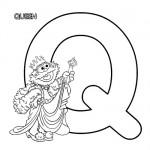 Alphabet Q coloring page