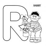 Alphabet R coloring page