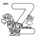 Alphabet Z coloring page