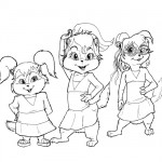 Alvin and the chipmunks - Chipettes coloring page