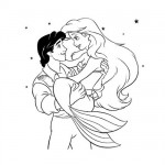 Ariel and prince coloring pages