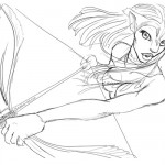 Avatar - Neytiri coloring pages