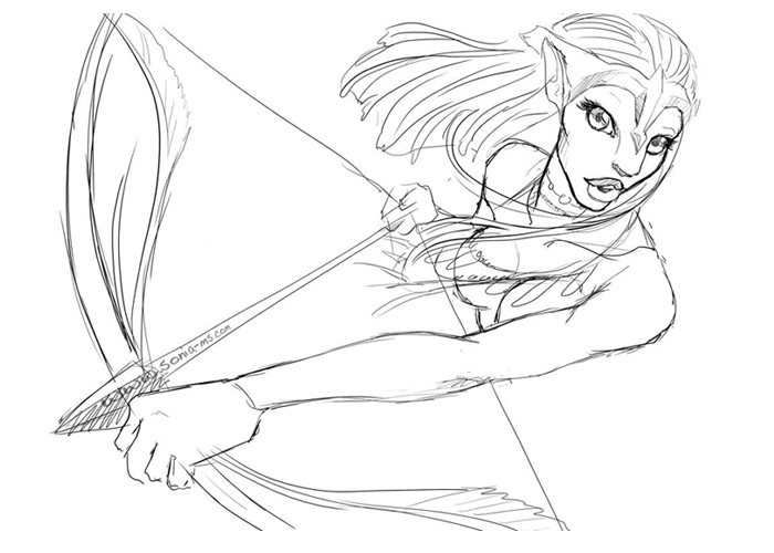 Avatar Neytiri Coloring Pages