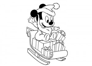 Baby Mickey Mouse coloring page
