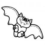 Baby bat coloring page