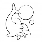 Baby dolphin coloring page