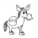 Baby donkey coloring page