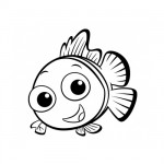 Baby fish coloring page