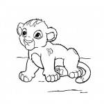 Baby lion coloring page