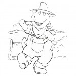 Barney farmer coloring pages