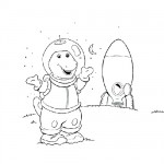 Barney space coloring pages
