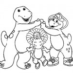 Barney three coloring pages