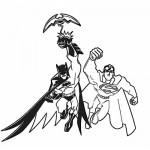 Batman and superman coloring page