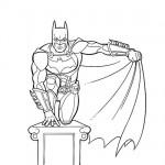 Batman free coloring page