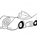 Batmobile coloring page