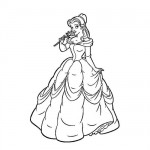Beauty and the beast -Belle coloring page