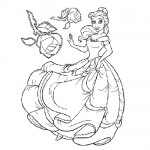 Beauty coloring page