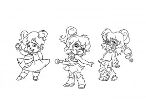 Chipettes coloring page for kids