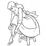 Cinderella glass slipper coloring sheet