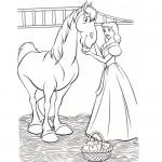 Cinderella horse coloring page