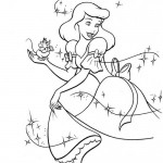Cinderella mice coloring page