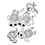 Finding Nemo jurney coloring page