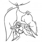 Funny bat coloring page