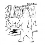 Grizzly bears coloring pages