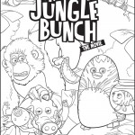 Jungle bunch coloring pages