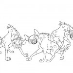 Lion King - Hyenas coloring pages