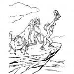 Lion King color page