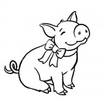 Little piggy coloring page