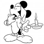 Mickey Mouse bedtime coloring pages