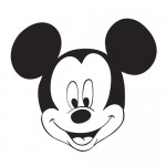 Mickey Mouse face coloring page