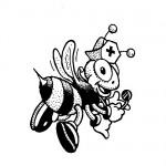 Nursebee coloring page