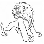 Roaring lion coloring page