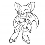 Rouge the bat coloring page
