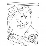 The doctor and Nemo coloring page